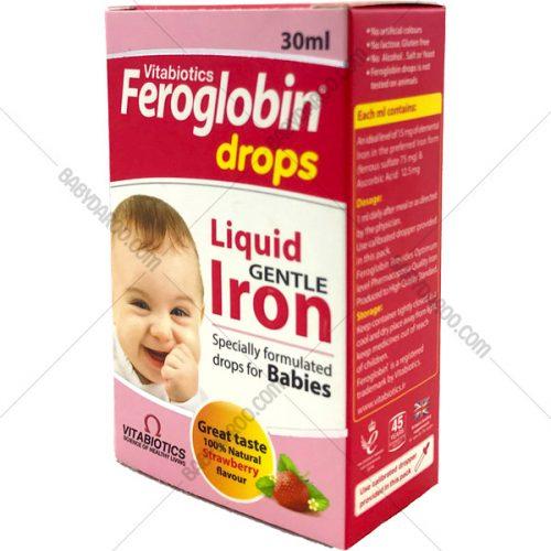 VITABIOTICS Feroglobin Iron Drops - قطره آهن فروگلوبین ویتابیوتیکس