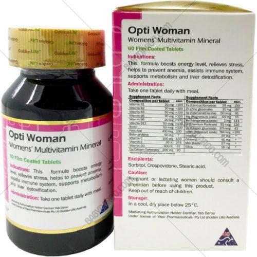 قرص اپتی وومن گلدن لایف یک مولتی ویتامین مینرال - Opti Woman