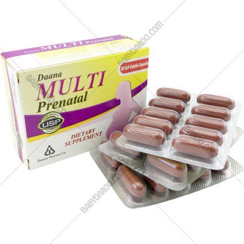 کپسول مولتی پریناتال دانا فارما- Daana Pharma Multi Prenatal Capsules